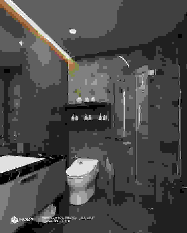 Thiết kế nội thất nhà phố Nguyễn Phong Sắc Công ty TNHH xây dựng và kiến trúc Homy Việt Nam BathroomToilets