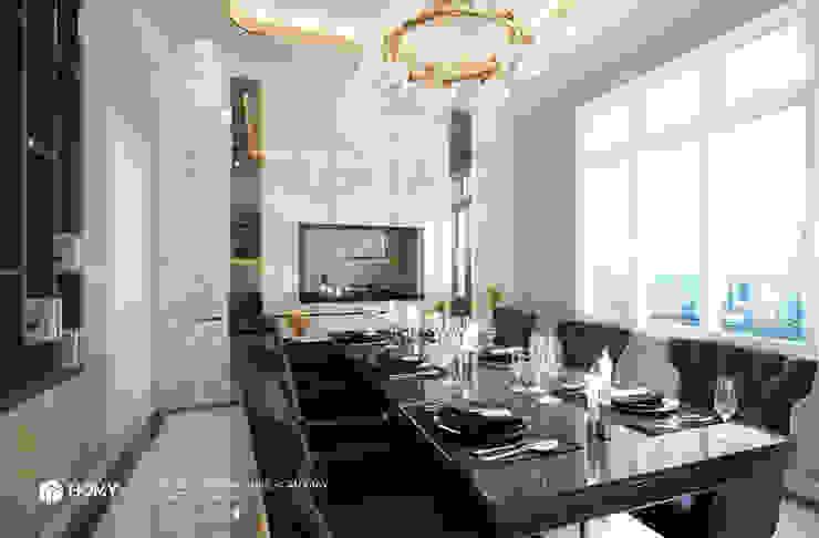 Thiết kế nội thất nhà phố Nguyễn Phong Sắc Công ty TNHH xây dựng và kiến trúc Homy Việt Nam Dining roomTables