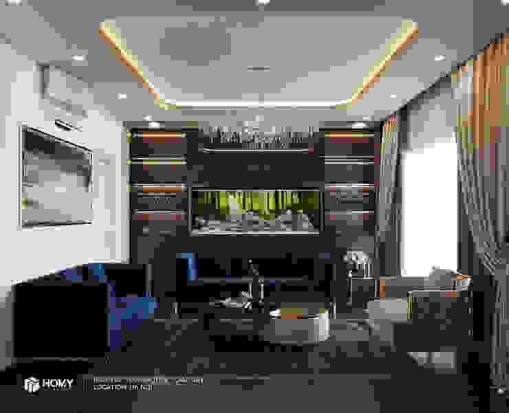 Thiết kế nội thất nhà phố Nguyễn Phong Sắc Công ty TNHH xây dựng và kiến trúc Homy Việt Nam Living roomSofas & armchairs