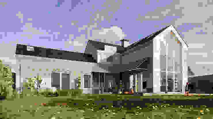 Garden Exterior - East Yorkshire Passivhaus by Samuel Kendall Associates Limited Сучасний Вапняк