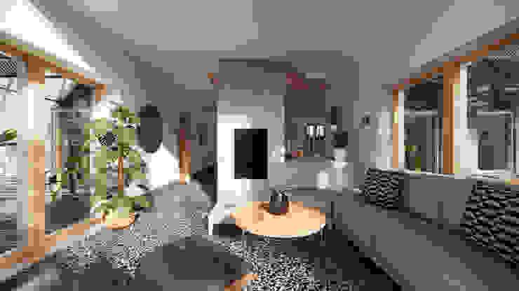 Solar Living Space - East Yorkshire Passivhaus by Samuel Kendall Associates Limited Сучасний Вапняк