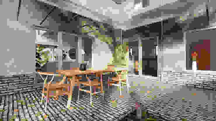 Solar Veranda 01 - East Yorkshire Passivhaus by Samuel Kendall Associates Limited Сучасний Цегла