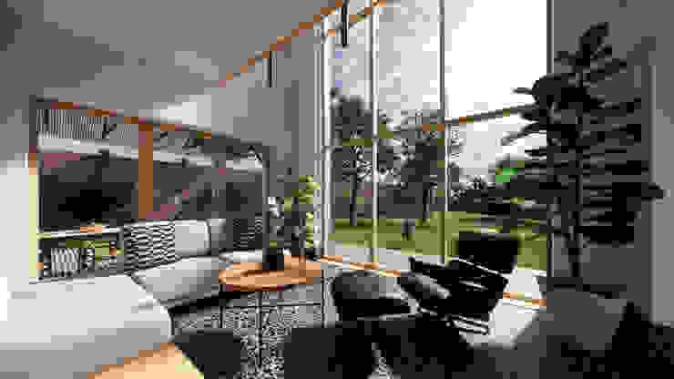 Solar Living Space - East Yorkshire Passivhaus by Samuel Kendall Associates Limited Сучасний Мармур