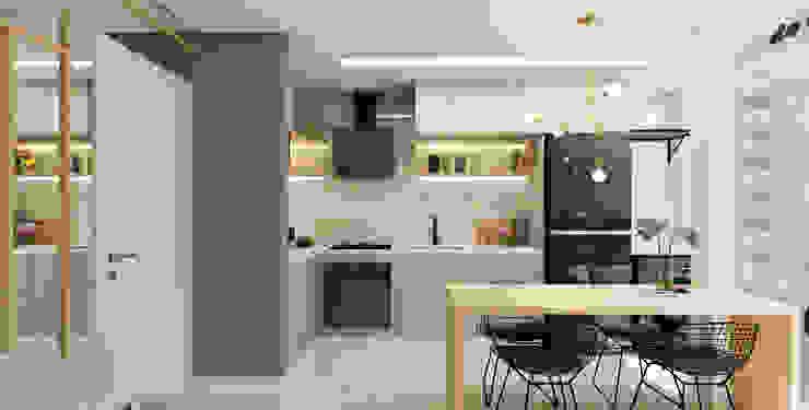 Arquiteto Virtual - Projetos On lIne Cocinas pequeñas Cuarzo Gris