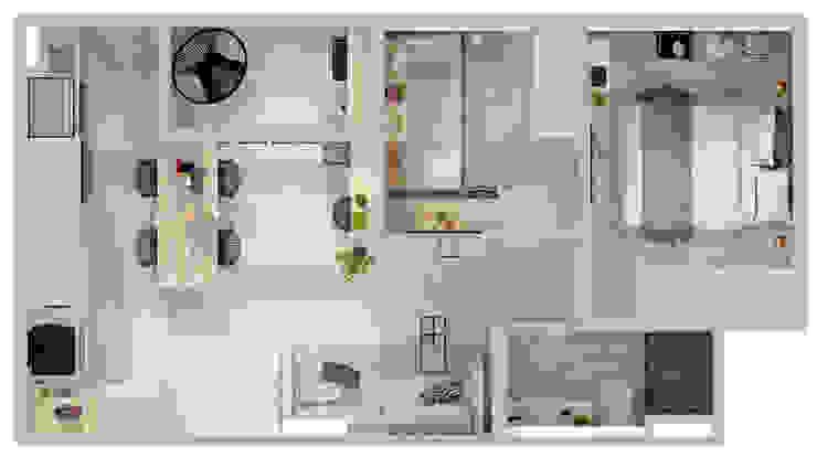 Arquiteto Virtual - Projetos On lIne Salas de estilo moderno Madera Gris