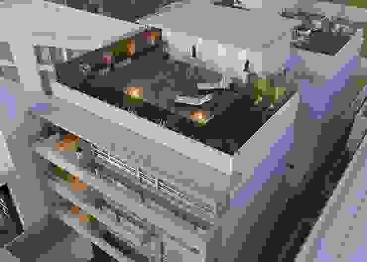 LLACAY arquitectos Modern balcony, veranda & terrace