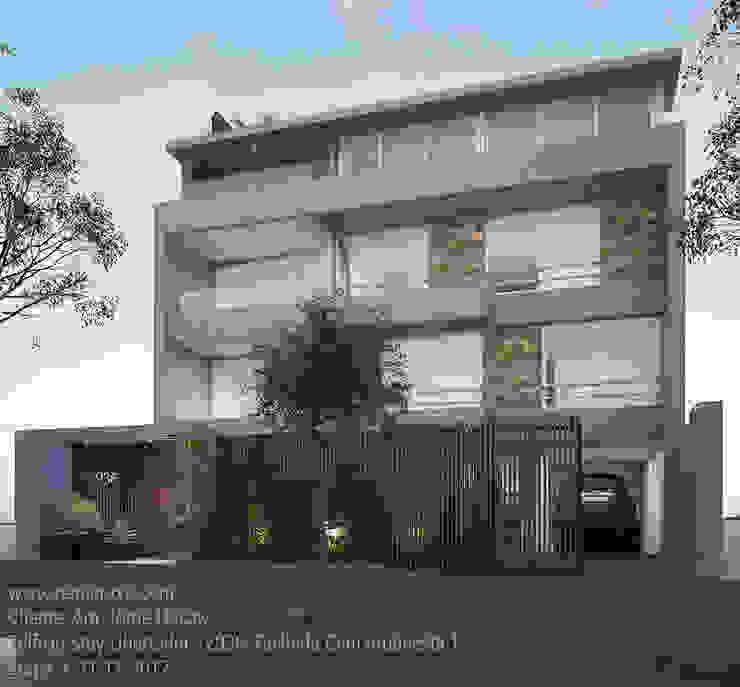 LLACAY arquitectos Terrace house Stone Grey