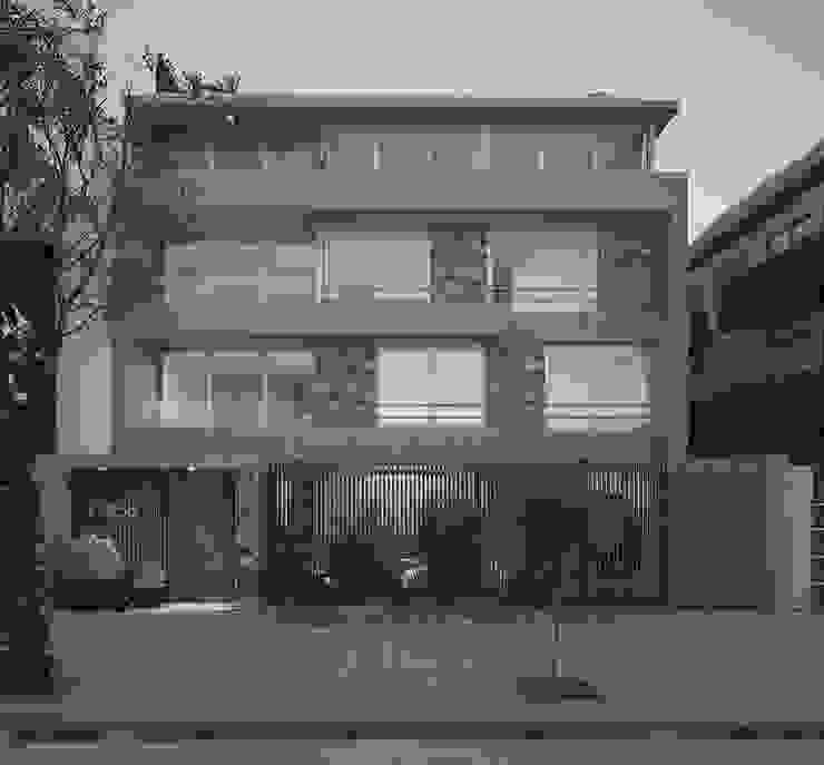LLACAY arquitectos Terrace house Stone