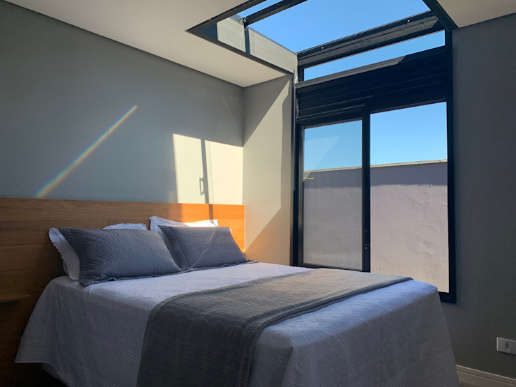 Industrial style bedroom by Casa Container Marilia - Barros Assuane Arquitetura Industrial
