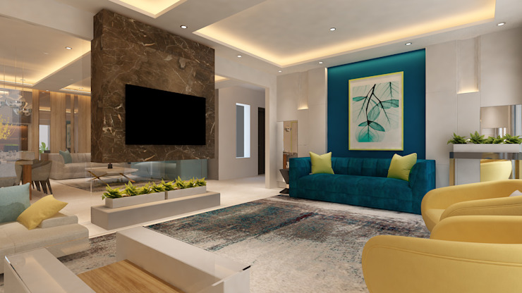Living Area by HC Designs Minimalist Marble
