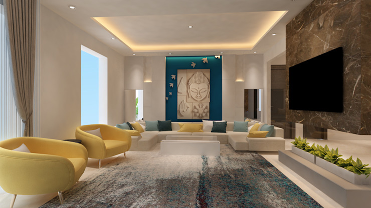Living Room by HC Designs Minimalist Marble