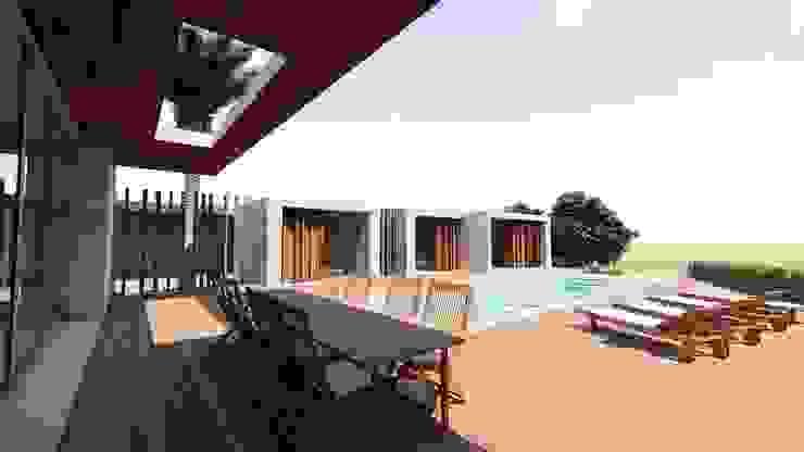 by MJARC - Arquitetos Associados, lda Modern Solid Wood Multicolored