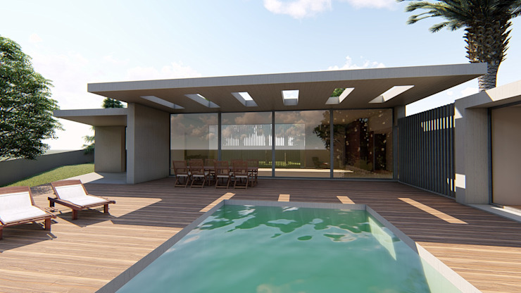 de MJARC - Arquitetos Associados, lda Moderno Concreto