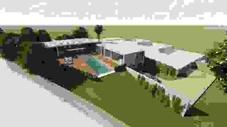 Casas estilo moderno: ideas, arquitectura e imágenes de MJARC - Arquitetos Associados, lda Moderno Concreto