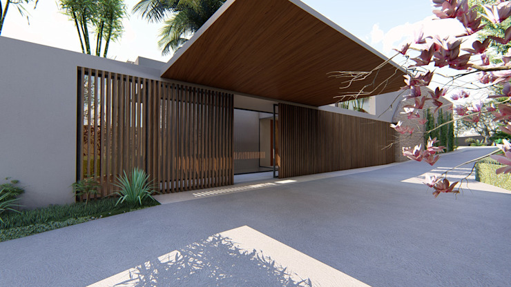 MJARC - Arquitetos Associados, lda บ้านสำหรับครอบครัว ไม้