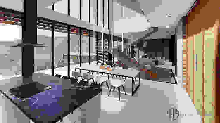 Diseño Arquitectónico – Finca Campestre Comedores de estilo moderno de 4.19Arquitectos Moderno