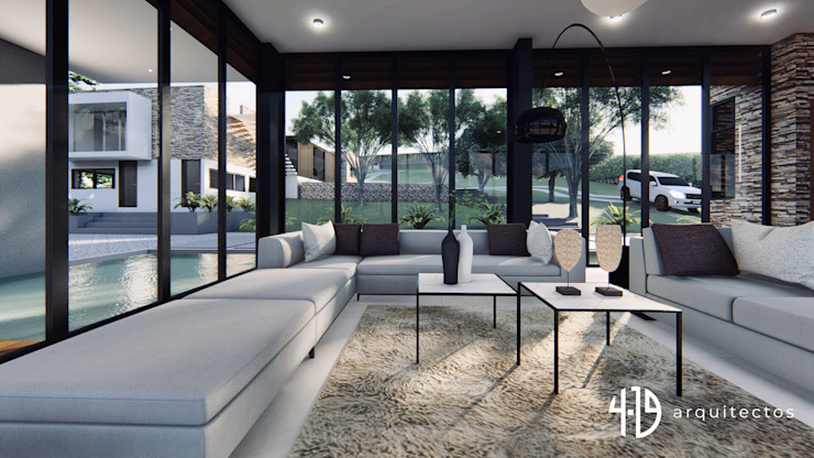 Diseño Arquitectónico – Finca Campestre Salas modernas de 4.19Arquitectos Moderno