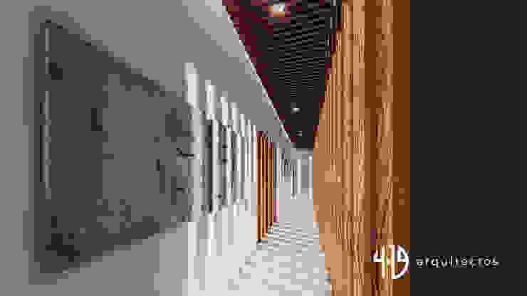 Diseño Arquitectónico – Finca Campestre Pasillos, vestíbulos y escaleras de estilo moderno de 4.19Arquitectos Moderno