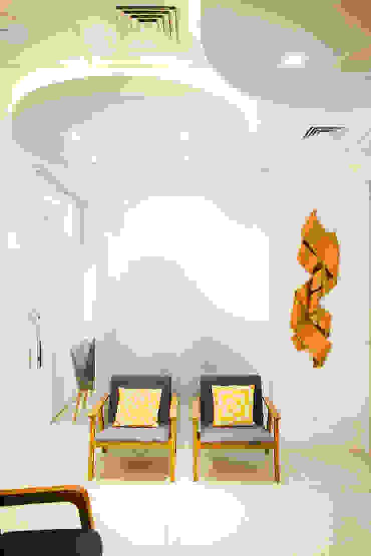 Sala de espera C2HA Arquitetos Clínicas ecléticas