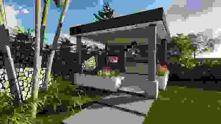 Diseño Arquitectónico – Zona BBQ – Kiosco Casas modernas de 4.19Arquitectos Moderno