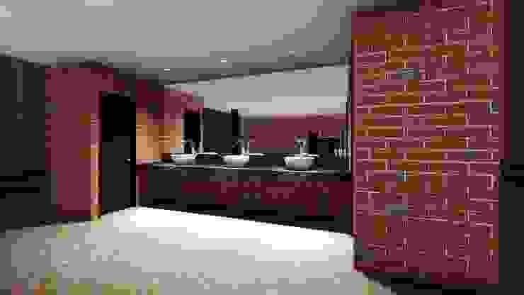 Diseño Arquitectónico – Salón Social Baños de estilo moderno de 4.19Arquitectos Moderno