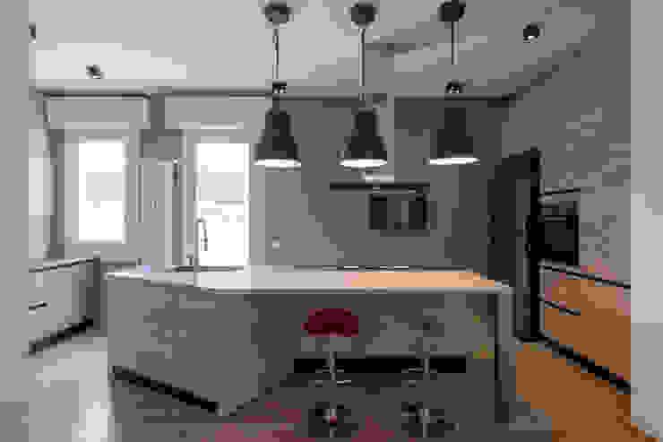 Casa <q>IP</q> interni prospettici MAMESTUDIO Cucina moderna