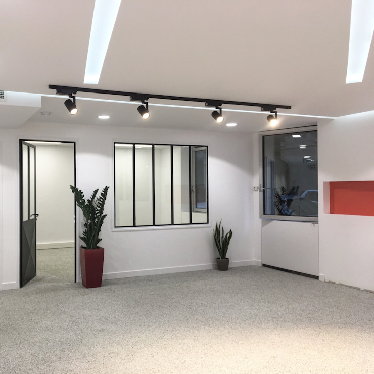 jun wan dumont Modern study/office White