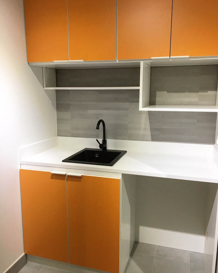 jun wan dumont Small kitchens Wood-Plastic Composite Orange