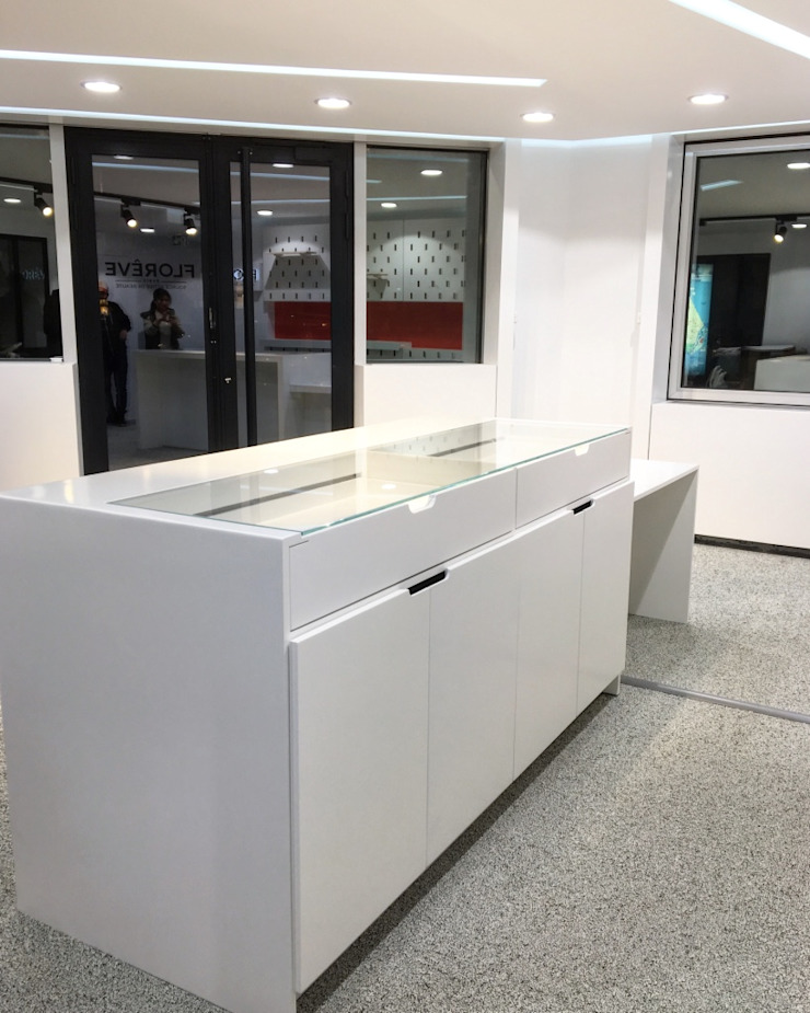 jun wan dumont Modern study/office MDF White