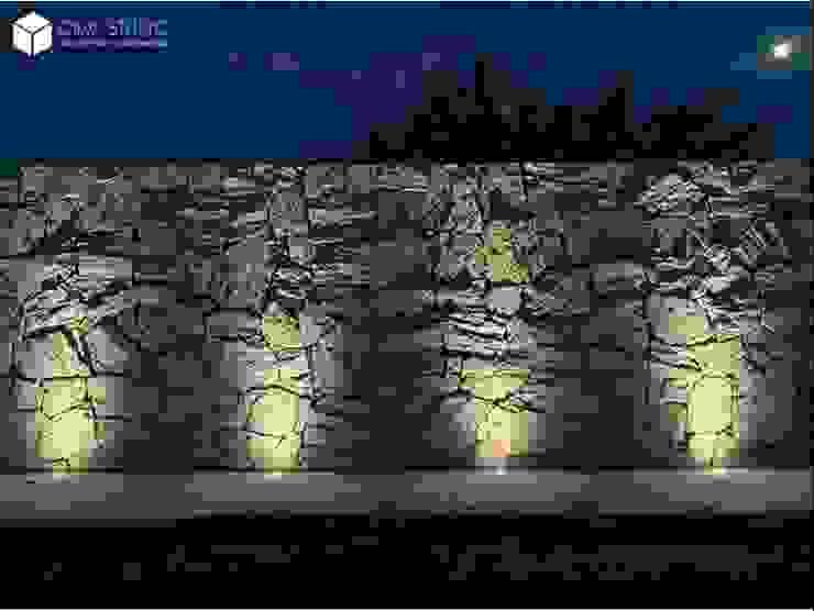 Muro de piedra de OBW STUDIO Rústico Piedra