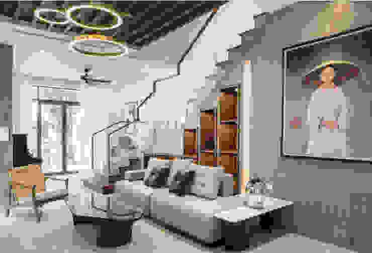 BIỆT THỰ VINHOMES THĂNG LONG Phòng khách phong cách kinh điển bởi Neo Classic Interior Design Kinh điển