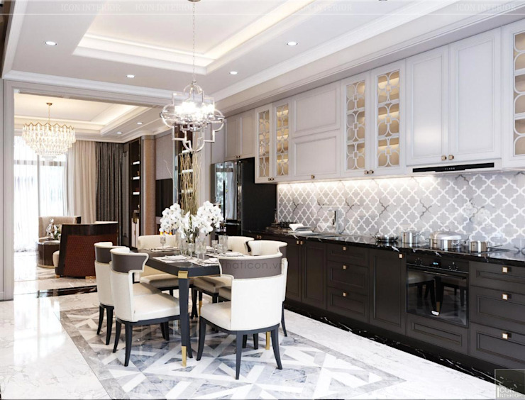 Classic style dining room by Thiết kế nội thất ICONINTERIOR Classic