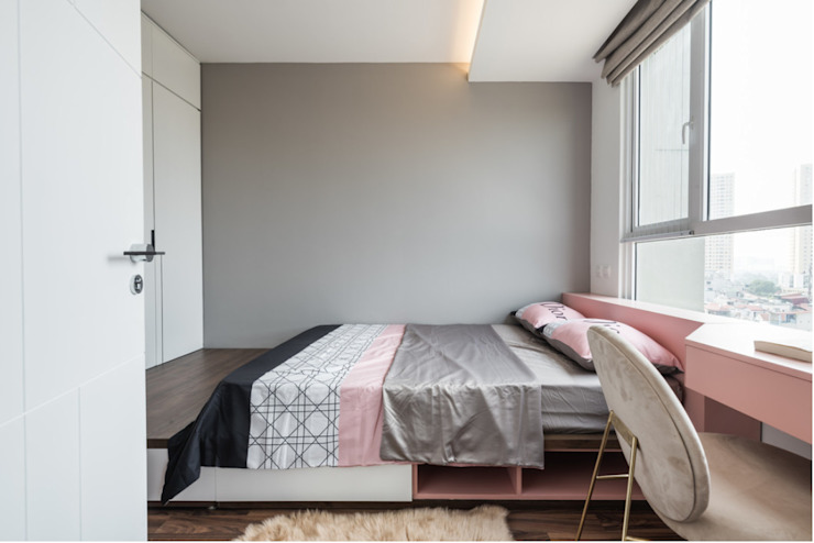 SEASON AVENUE – THIẾT KẾ CHUNG CƯ CAO CẤP MỘC MẠC MÀ SANG TRỌNG Phòng ngủ phong cách kinh điển bởi Neo Classic Interior Design Kinh điển