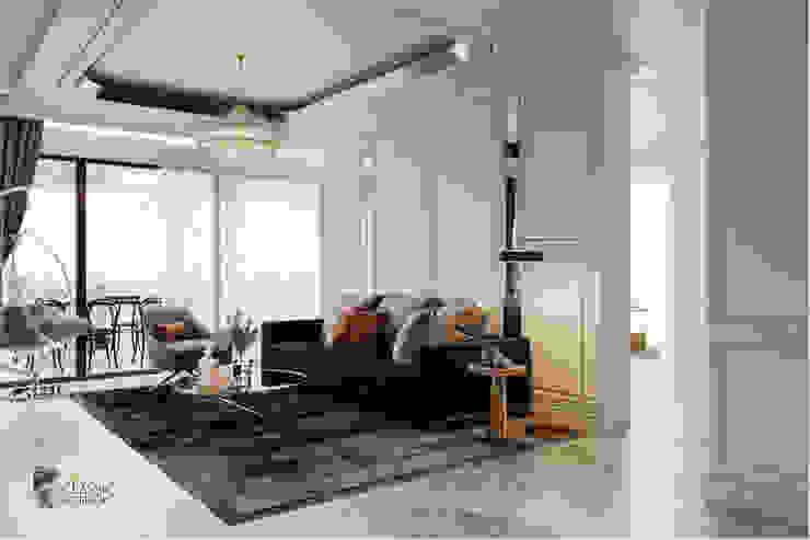 THIẾT KẾ NỘI THẤT BIỆT THỰ ĐÔI Ở BÌNH DƯƠNG – SANG TRỌNG VÀ ĐẲNG CẤP Phòng khách phong cách kinh điển bởi Neo Classic Interior Design Kinh điển