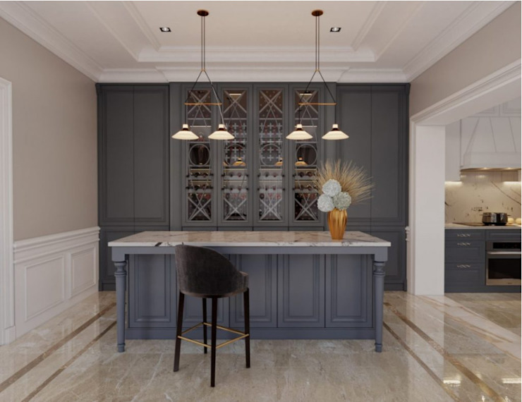 BIỆT THỰ STARLAKE VILLA TÂN CỔ ĐIỂN – TÂY HỒ TÂY, HÀ NỘI Phòng ăn phong cách kinh điển bởi Neo Classic Interior Design Kinh điển