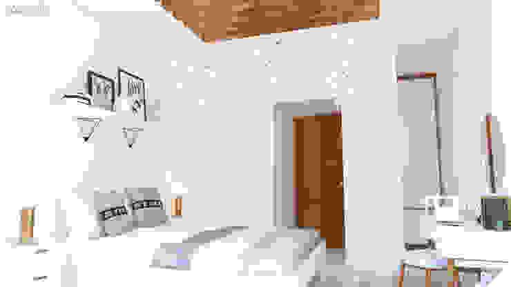 Diseño Interior de Habitación de adolescentes Architecture Means Dormitorios pequeños Madera Blanco