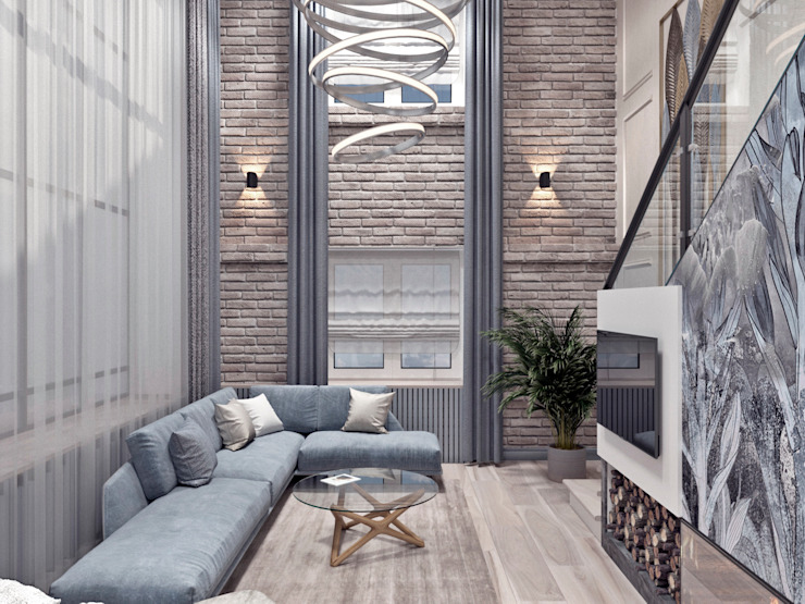 AnARCHI Eclectic style living room