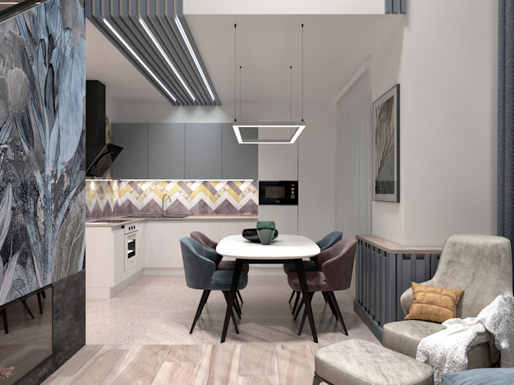 AnARCHI Eclectic style kitchen