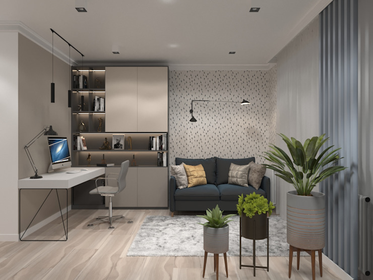 AnARCHI Eclectic style study/office