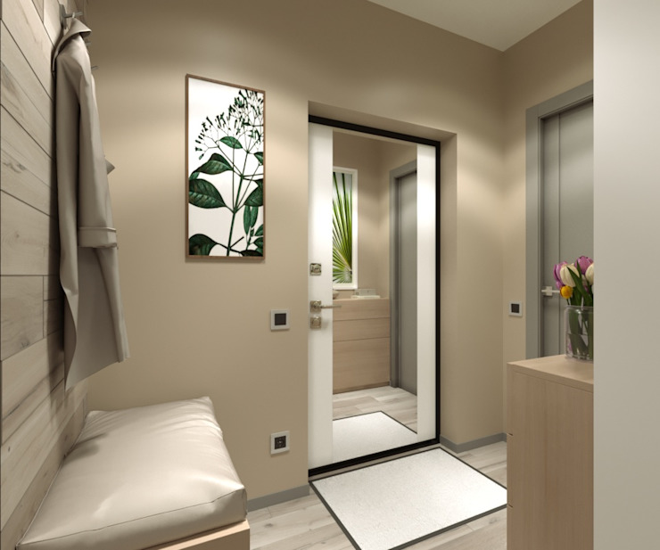 AnARCHI Minimalist corridor, hallway & stairs