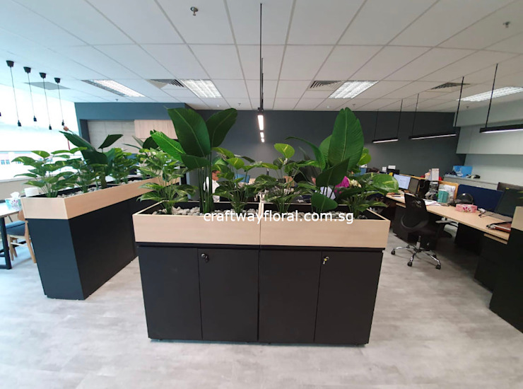Artificial flowers and plants supplier Craftway Floral & Gifts Office spaces & stores Plastic Green