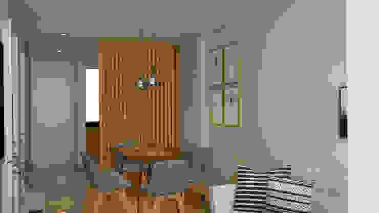 𝗣𝗿𝗼𝘆𝗲𝗰𝘁𝗼 𝗗𝗶𝘀𝗲𝗻̃𝗼 𝗦𝗮𝗹𝗮 𝗖𝗼𝗺𝗲𝗱𝗼𝗿 - 𝗦𝘂𝗿𝗰𝗼 Comedores de estilo moderno de Katherine Quijano - Interiorismo Moderno Compuestos de madera y plástico