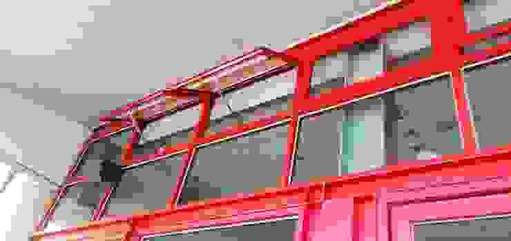 玻璃帷幕:電動推射窗 / 隱框 根據 HOYA 電動百葉窗 《 晟弈有限公司 》