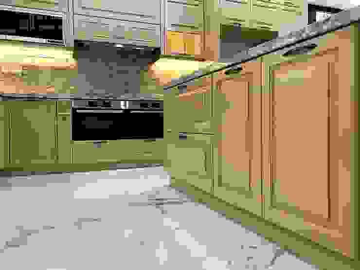 Hệ thống tủ bếp dưới Nội thất Thành Nam KitchenCabinets & shelves Gỗ Amber/Gold