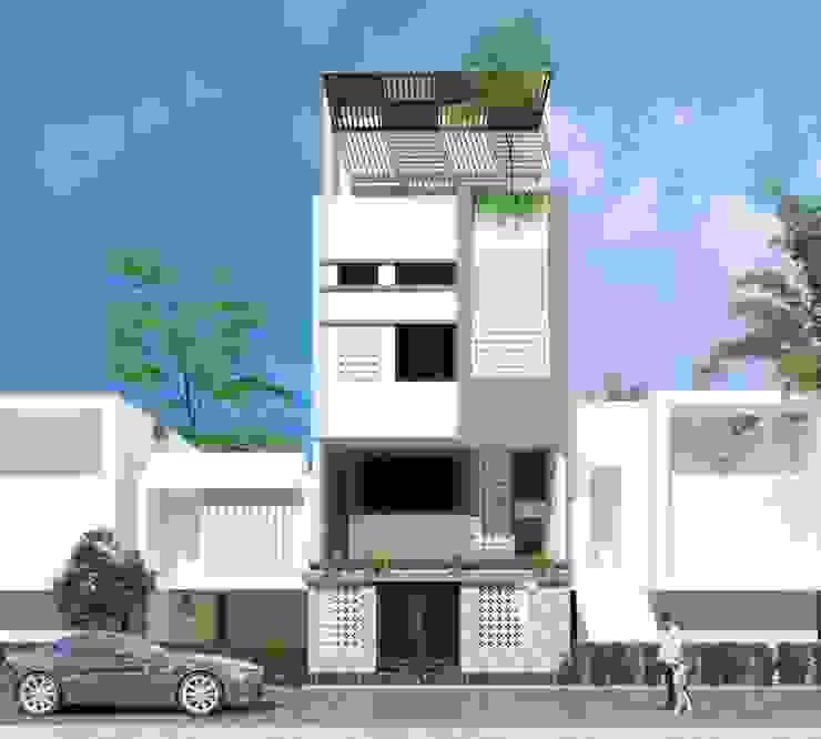 Nhà phố liền kề Đà Nẵng - Mr. Sanh & Mr. Nam bởi Công ty TNHH Xây dựng & Thương mại Vũ Hưng Thịnh