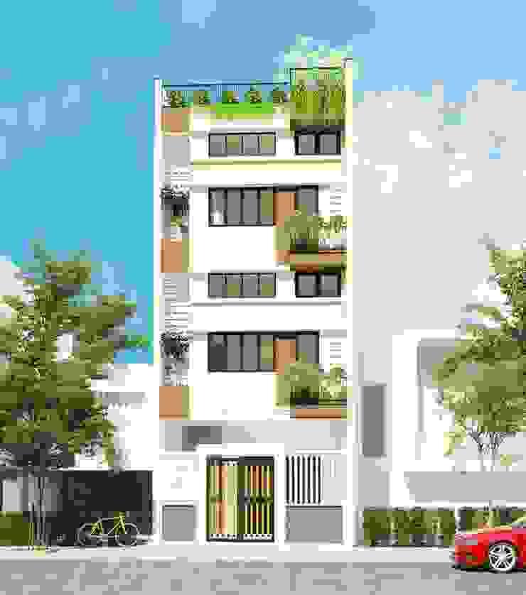 Nhà phố liền kề Đà Nẵng – Mr. Sanh & Mr. Nam bởi Công ty TNHH Xây dựng & Thương mại Vũ Hưng Thịnh