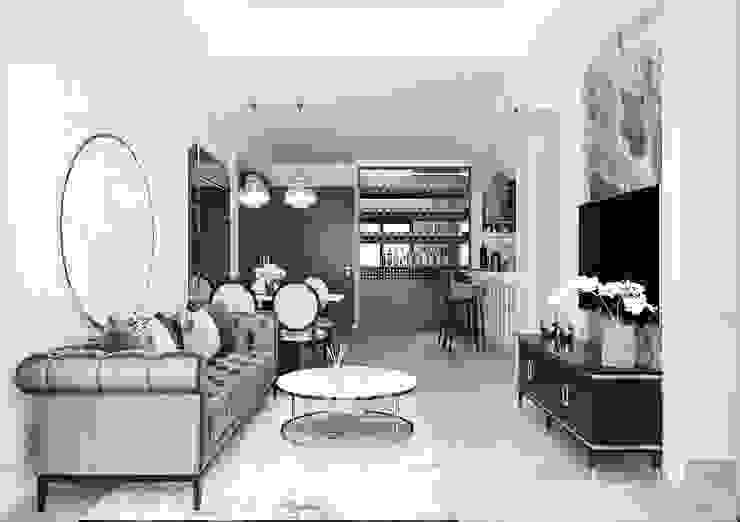 Căn hộ one verandah quận 2 bởi Thiết kế nội thất ICONINTERIOR Hiện đại