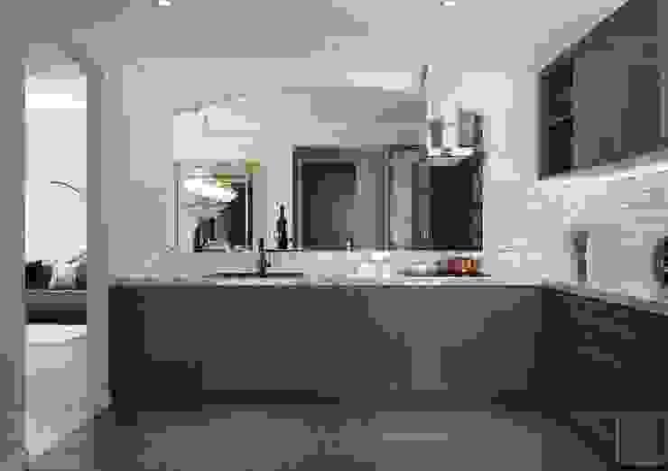 Căn hộ one verandah quận 2 Thiết kế nội thất ICONINTERIOR Nhà bếp phong cách hiện đại