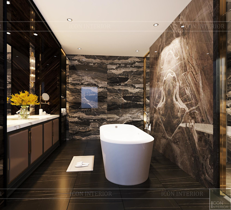MODERN APARTMENT Phòng tắm phong cách Bắc Âu bởi Thiết kế nội thất ICONINTERIOR Bắc Âu