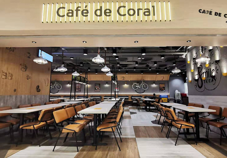 Cafe de coral Modern bars & clubs by MLD Creative Limited Modern